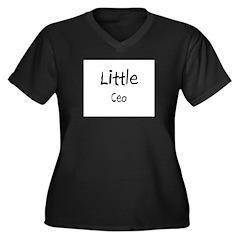 Little Ceo Women's Plus Size V-Neck Dark T-Shirt