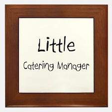 Little Catering Manager Framed Tile