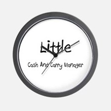 Little Cash And Carry Manager Wall Clock