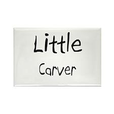 Little Carver Rectangle Magnet