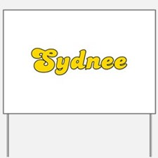 Retro Sydnee (Gold) Yard Sign