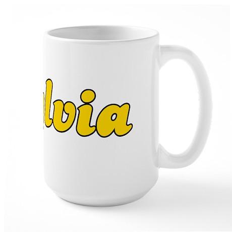Retro Sylvia (Gold) Large Mug