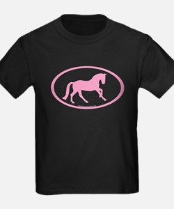 Pink Canter Horse Oval T