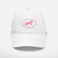 Pink Canter Horse Oval Baseball Baseball Cap