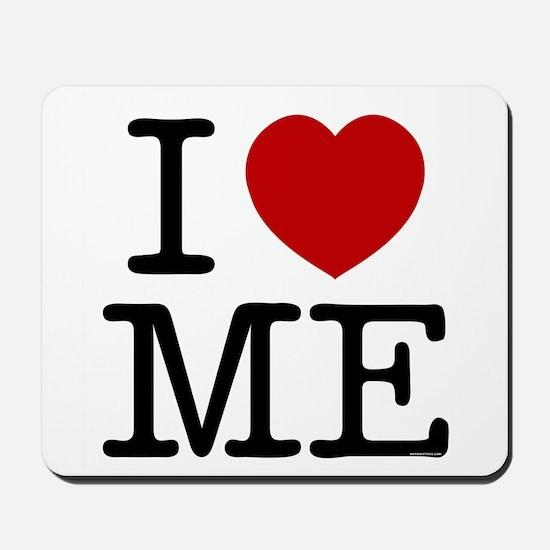I LOVE ME --- RIFFRAFFTEES.COM Mousepad