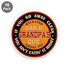 "Grandpa's Backyard Bar-b-que Pit 3.5"" Button (10 p"