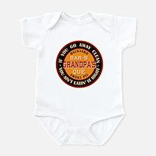 Grandpa's Backyard Bar-b-que Pit Infant Bodysuit