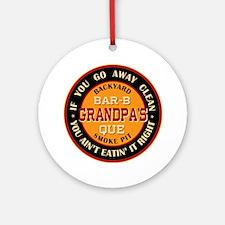 Grandpa's Backyard Bar-b-que Pit Ornament (Round)