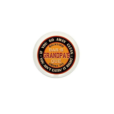 Grandpa's Backyard Bar-b-que Pit Mini Button (10 p