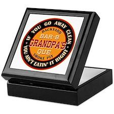 Grandpa's Backyard Bar-b-que Pit Keepsake Box