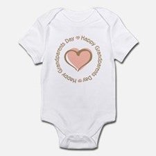 Happy Grandparents Day Pink Heart Infant Bodysuit