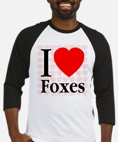 I Love Foxes Baseball Jersey