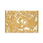 Wild Birds and Bamboo Magnets (10 pack)