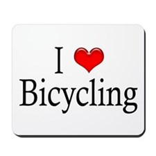 I Heart Bicycling Mousepad