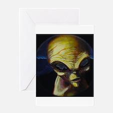 Alien/Angel Greeting Card