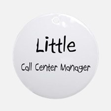 Little Call Center Manager Ornament (Round)