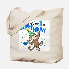 First Birthday - Monkey Tote Bag