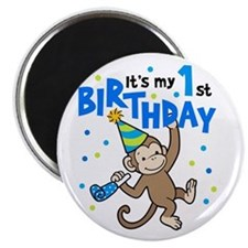 First Birthday - Monkey Magnet