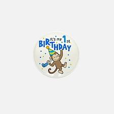 First Birthday - Monkey Mini Button