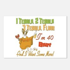 Tequila 40th Postcards (Package of 8)