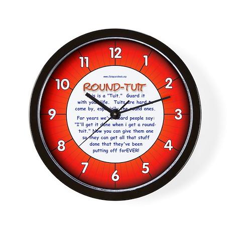 Round-Tuit Wall Clock