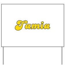 Retro Tamia (Gold) Yard Sign