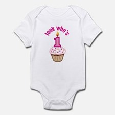 First Birthday - Cupcake (Girl) Infant Bodysuit