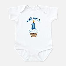 First Birthday - Cupcake (Boy) Infant Bodysuit