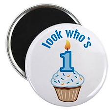 First Birthday - Cupcake (Boy) Magnet