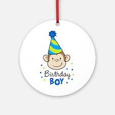 Birthday Boy - Monkey Ornament (Round)