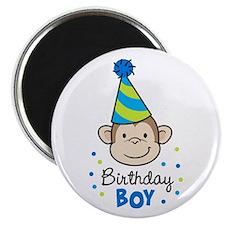 """Birthday Boy - Monkey 2.25"""" Magnet (10 pack)"""