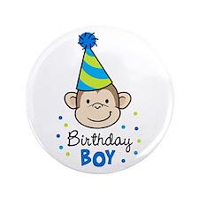 "Birthday Boy - Monkey 3.5"" Button"