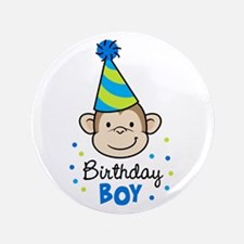 "Birthday Boy - Monkey 3.5"" Button"