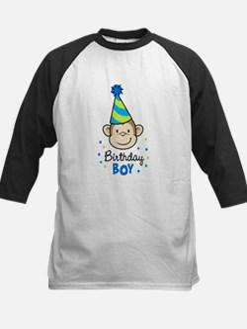 Birthday Boy - Monkey Kids Baseball Jersey