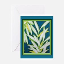 Green chic Greeting Card