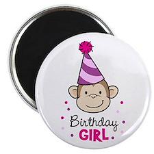 Birthday Girl - Monkey Magnet
