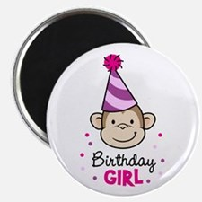 Birthday Girl - Monkey Magnet