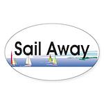 TOP Sail Away Sticker (Oval 50 pk)