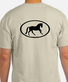Canter Horse Oval T-Shirt