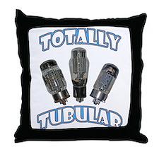 Totally Tubular Throw Pillow