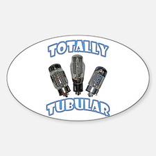 Totally Tubular Oval Decal