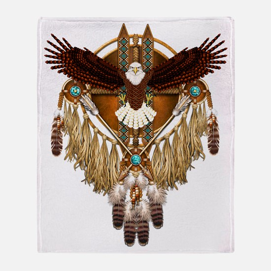 Funny American bald eagle Throw Blanket