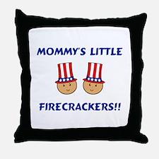 Mommy's Firecrackers Throw Pillow