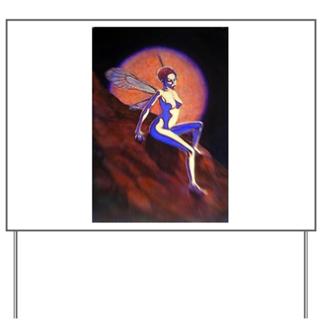 Red Fairy Yard Sign