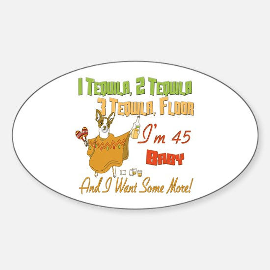 Tequila 45th Oval Decal