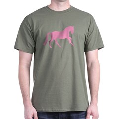 Pink Cantering Horse T-Shirt