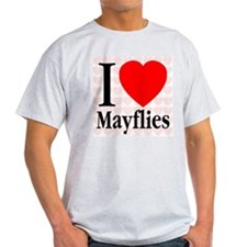 I Love Mayflies Ash Grey T-Shirt