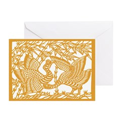 Wild Birds and Bamboo Greeting Cards (Pk of 10)