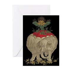 Asian Elephant 2 Greeting Cards (Pk of 20)