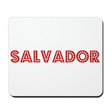 Retro Salvador (Red) Mousepad